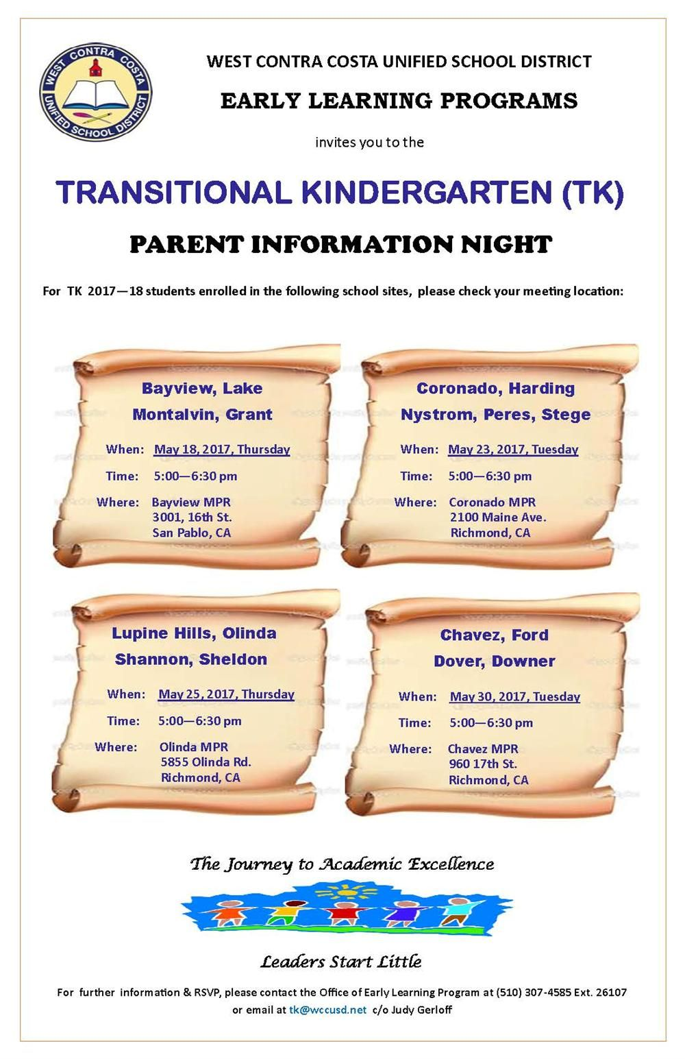 Transitional Kindergarten (TK) Parent Information Night