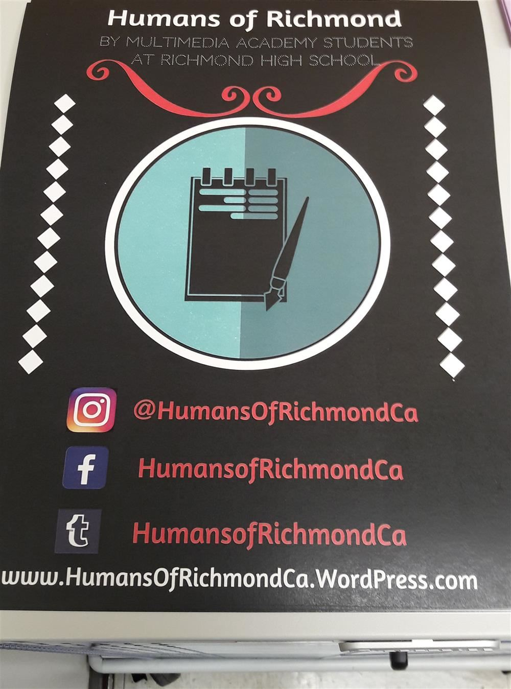 Humans of Richmond promotional poster