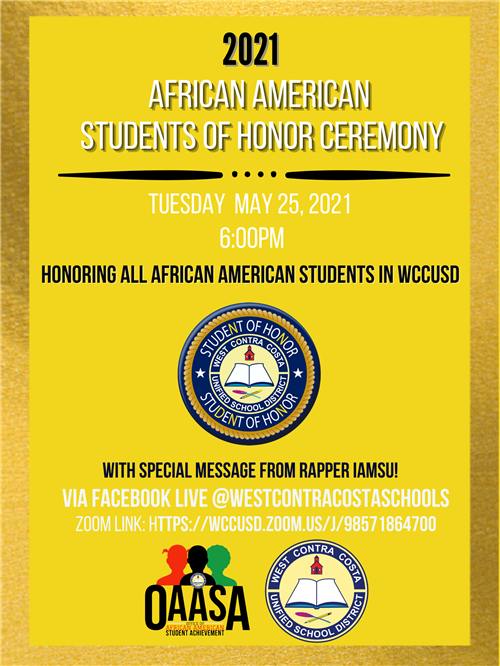African American Honors celebration flyer