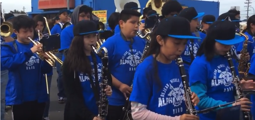 DeJean Middle School Band Wins 1st Place at Six Flags Discovery Kingdom Music in the Parks Festival