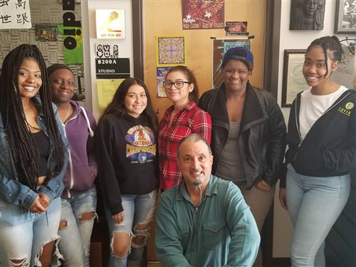 El Cerrito High School media students participated in KQED's Youth Takeover