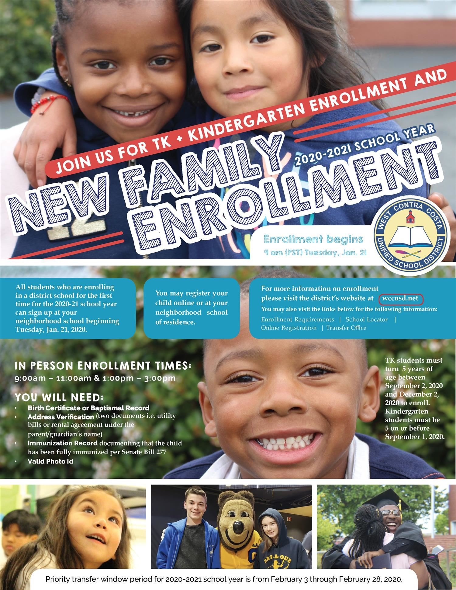 2020 2021 New Family Enrollment Flyer