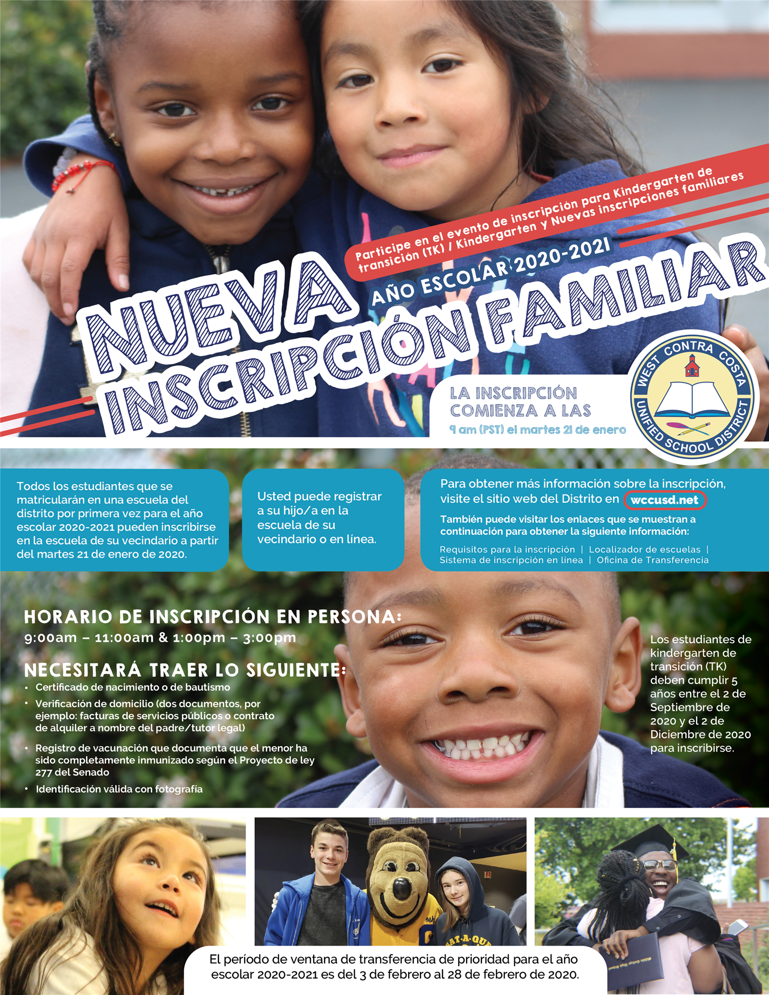 Spanish New Family Enrollment Flyer