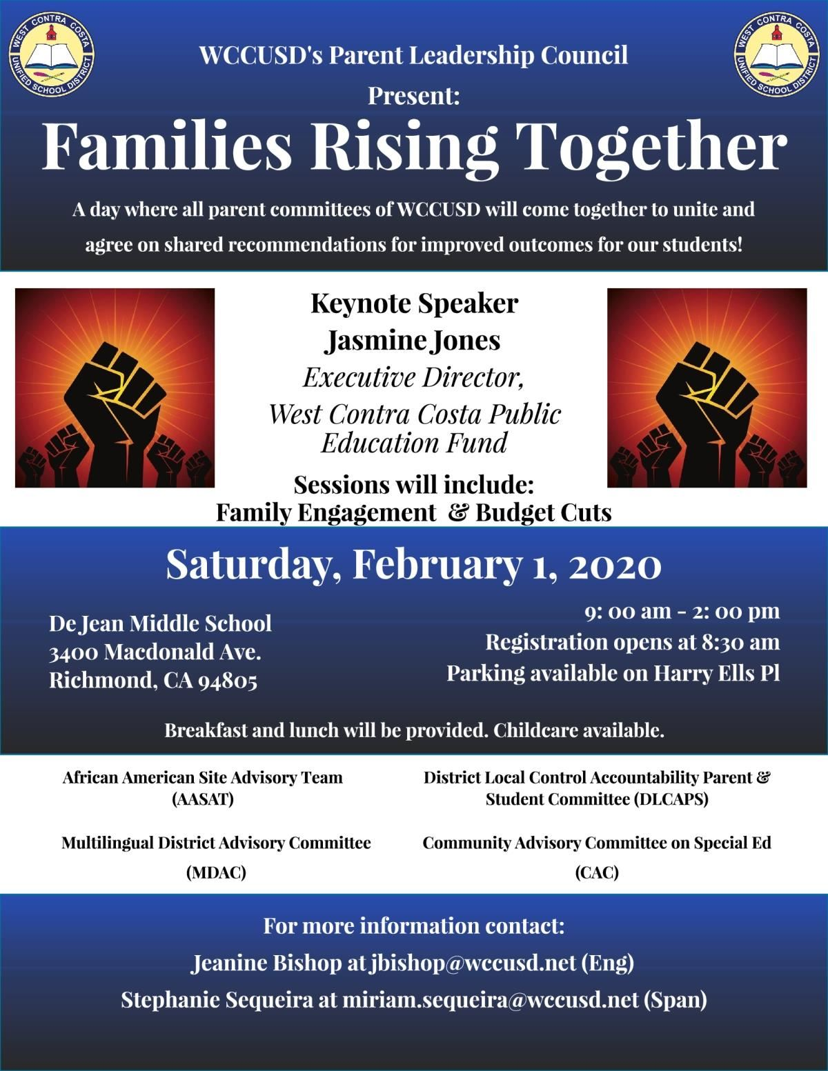 Families Rising Together Flyer