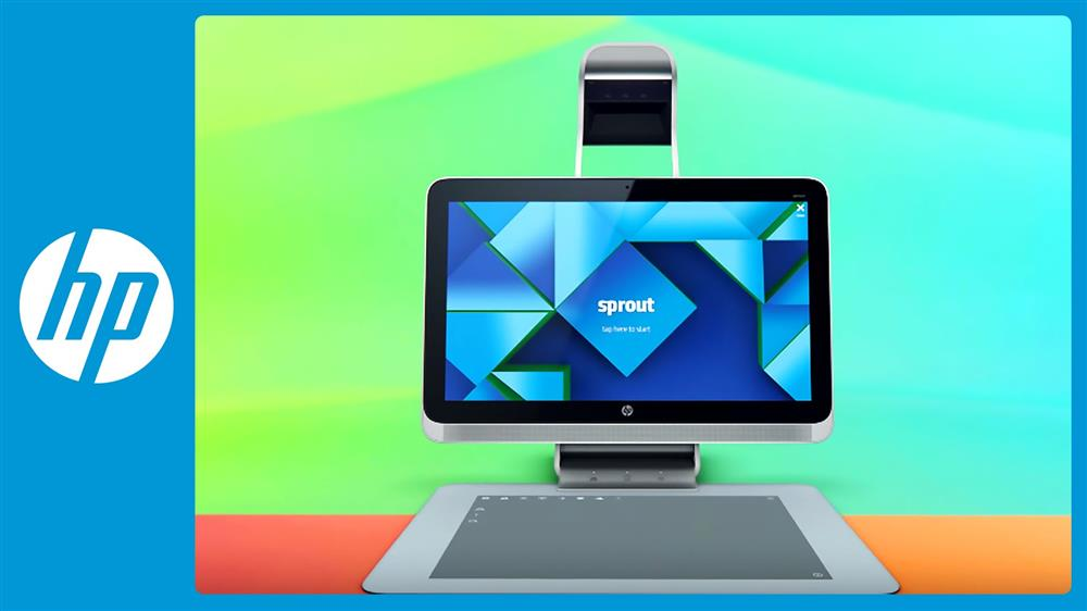 HP Sprout logo and device