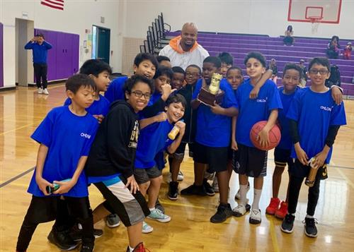 Ohlone Elementary students at the Inaugural WCCUSD Elementary Basketball Jamboree.