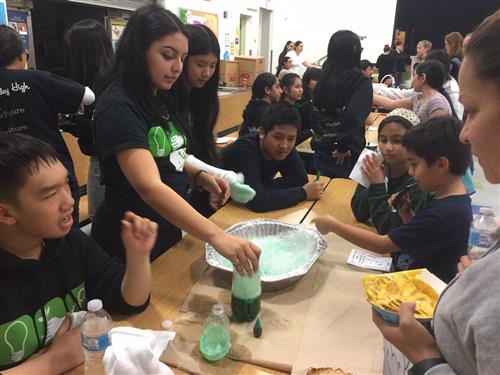 Pinole Valley High students teach science fun at Tara Hills Elementary