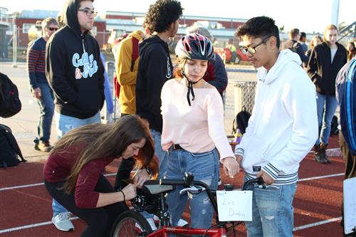 Teams of Richmond High Students participate in the 8th annual E-Bike Challenge