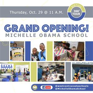 Community Invited to the Virtual Michelle Obama School Grand Opening Celebration on Oct. 29