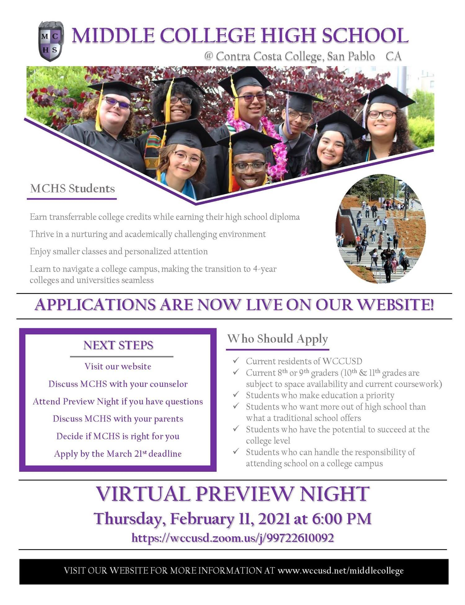 Middle College Information Flyer English
