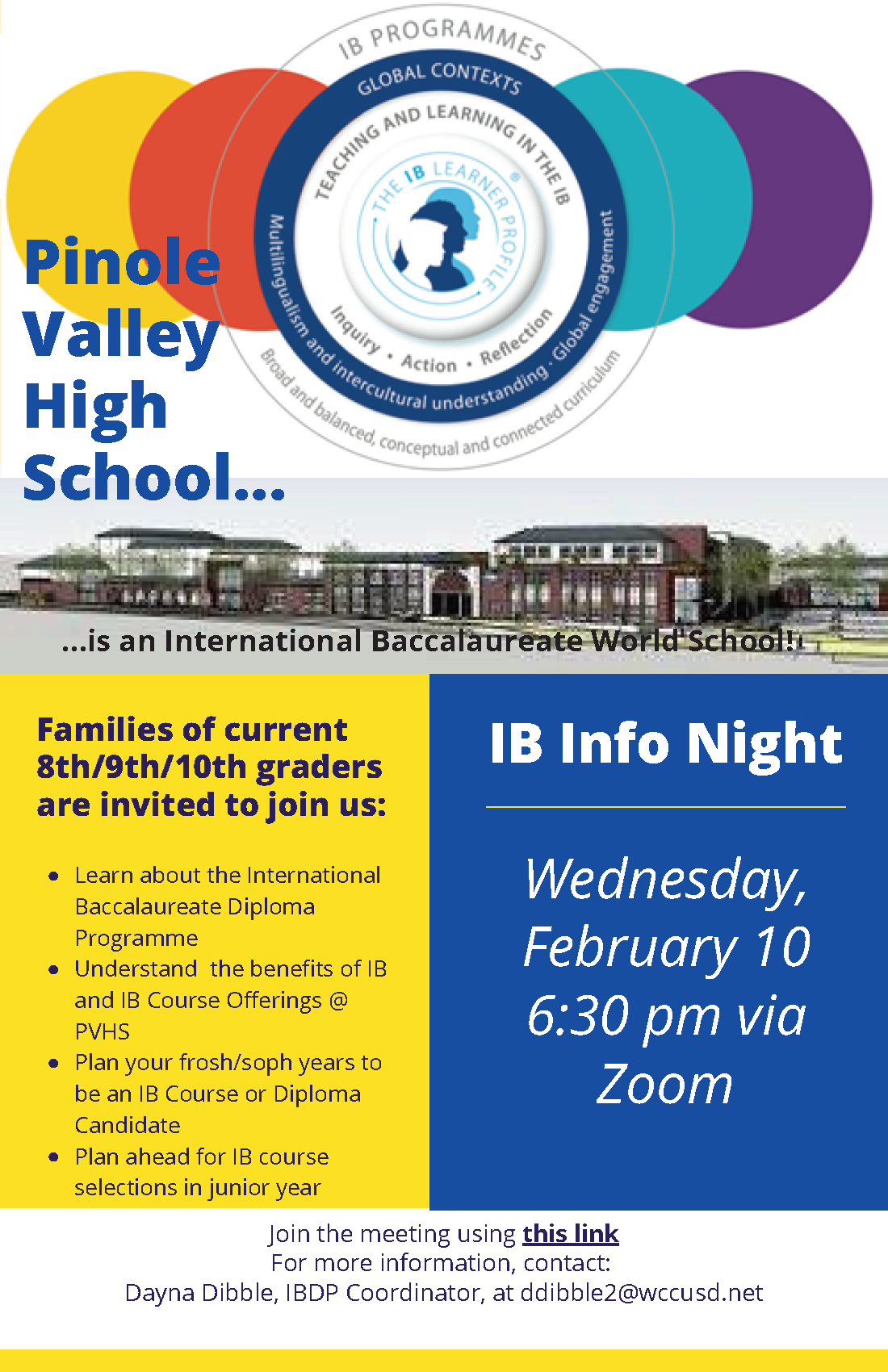 Pinole Valley HS IB English Flyer