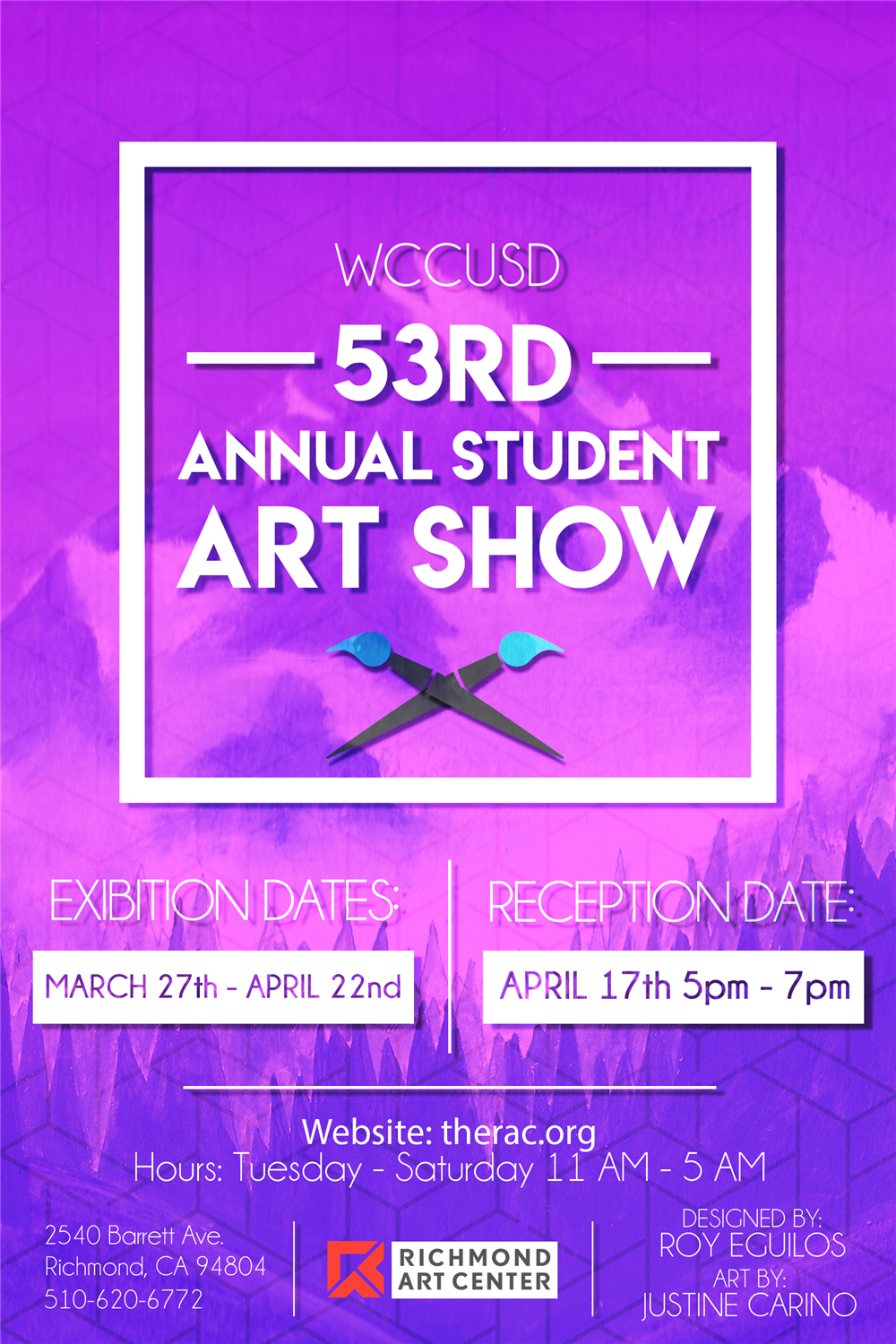 53rd Annual Student Art Show Poster