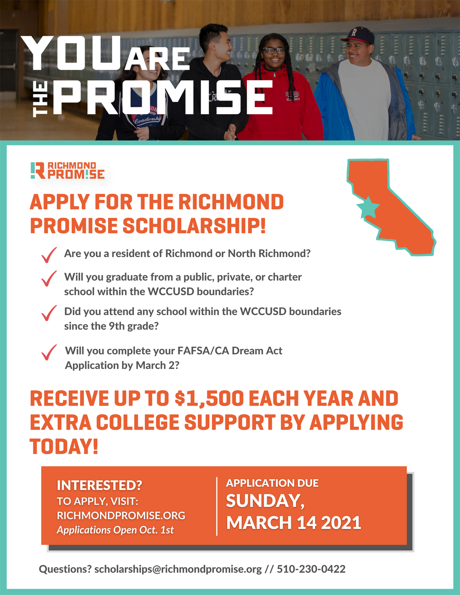 Richmond Promise Scholarship Flyer 20 21