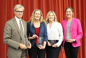 Bill Lindsay, Teresa Barnett, Susan Stark and Jessie Stewart are the 2018 Partner Award winners.