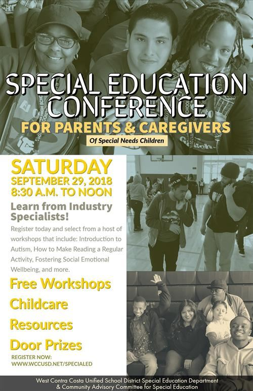 Parents & Caregivers Conference for Students with Special Needs, September 29