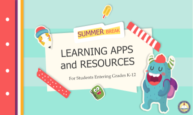 Summer Learning Resources slide