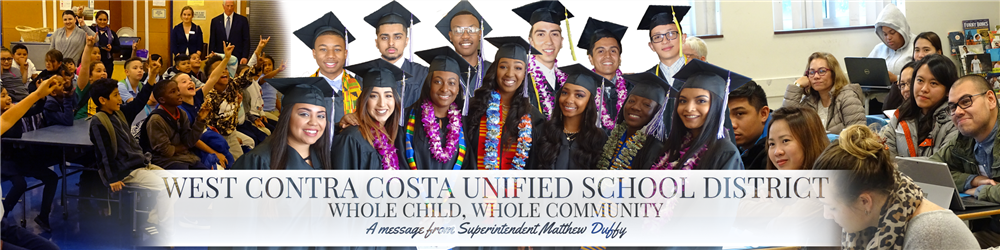 West Contra Costa Unified School District banner