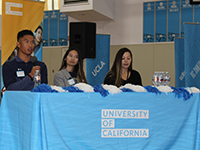 Hercules High School Alumni and current UC students speak to the Titans at the UC Achieve Day