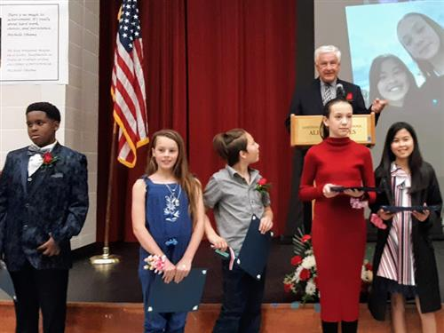 WCCUSD students awarded the Jake Rockeman award at the You Make a Difference Awards