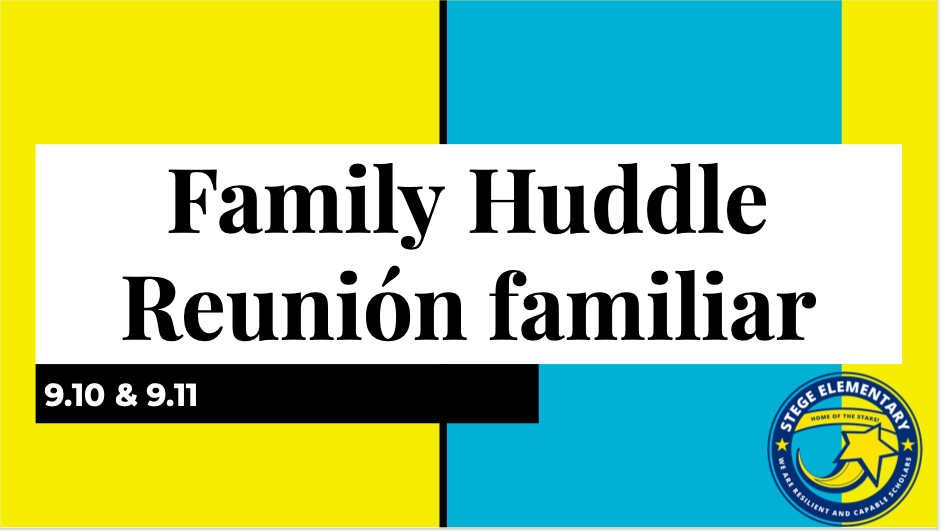 Family Huddle 9.10.2020