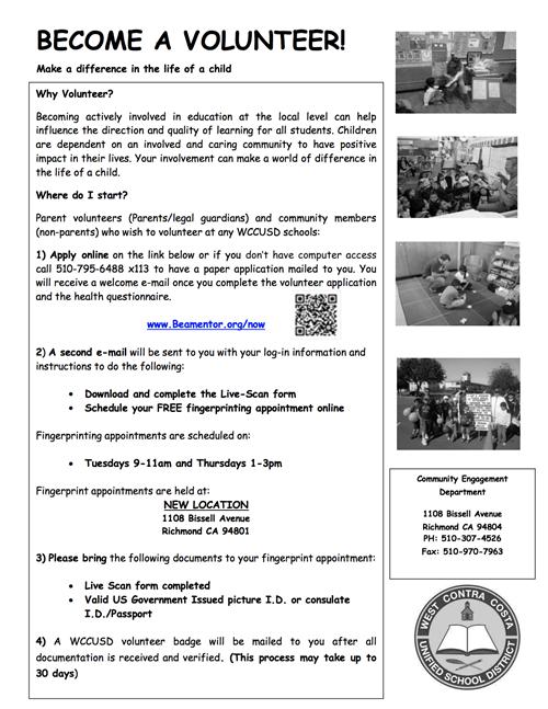 About Stewart Elementary / Parent Volunteers/Padres Voluntarios
