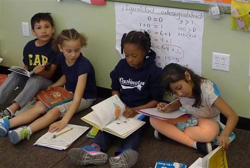 Washington Elementary School Students Reading in Pt Richmond