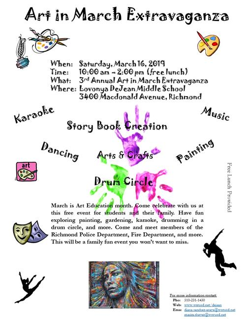 flier art in march english
