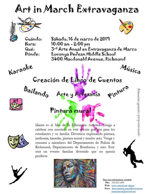 flier art in march Spanish