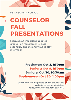Counselor Fall Presentations