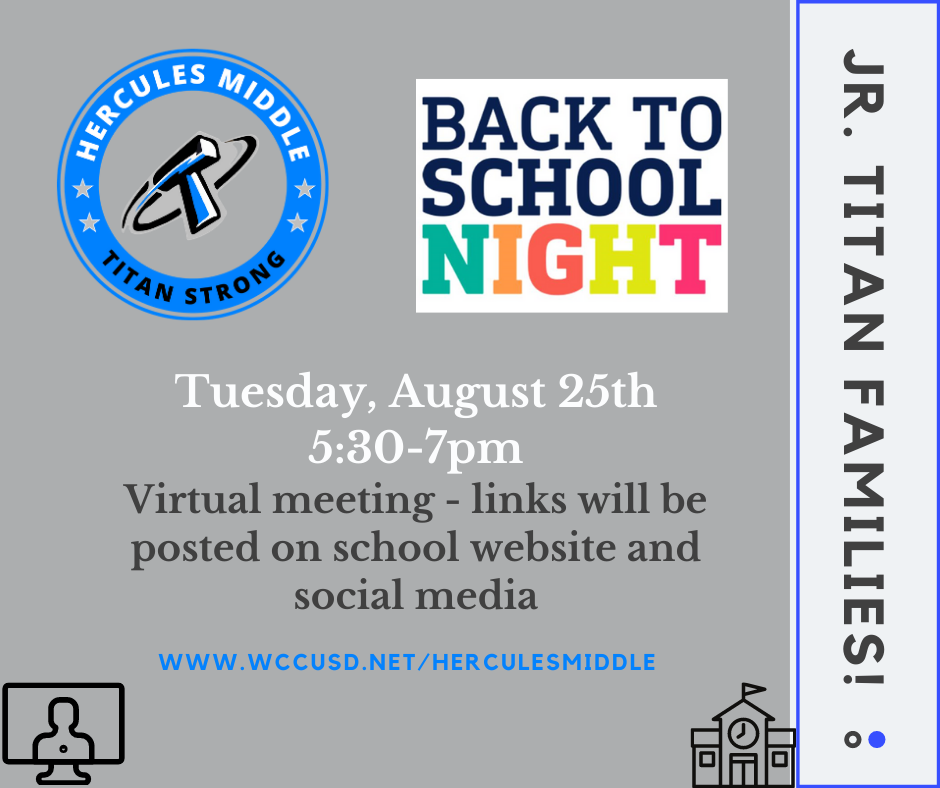 Click to see the Back To School Night recording, slides and teacher videos!