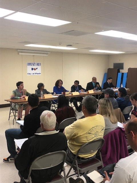 Community Fills the Room on Candidate's Night