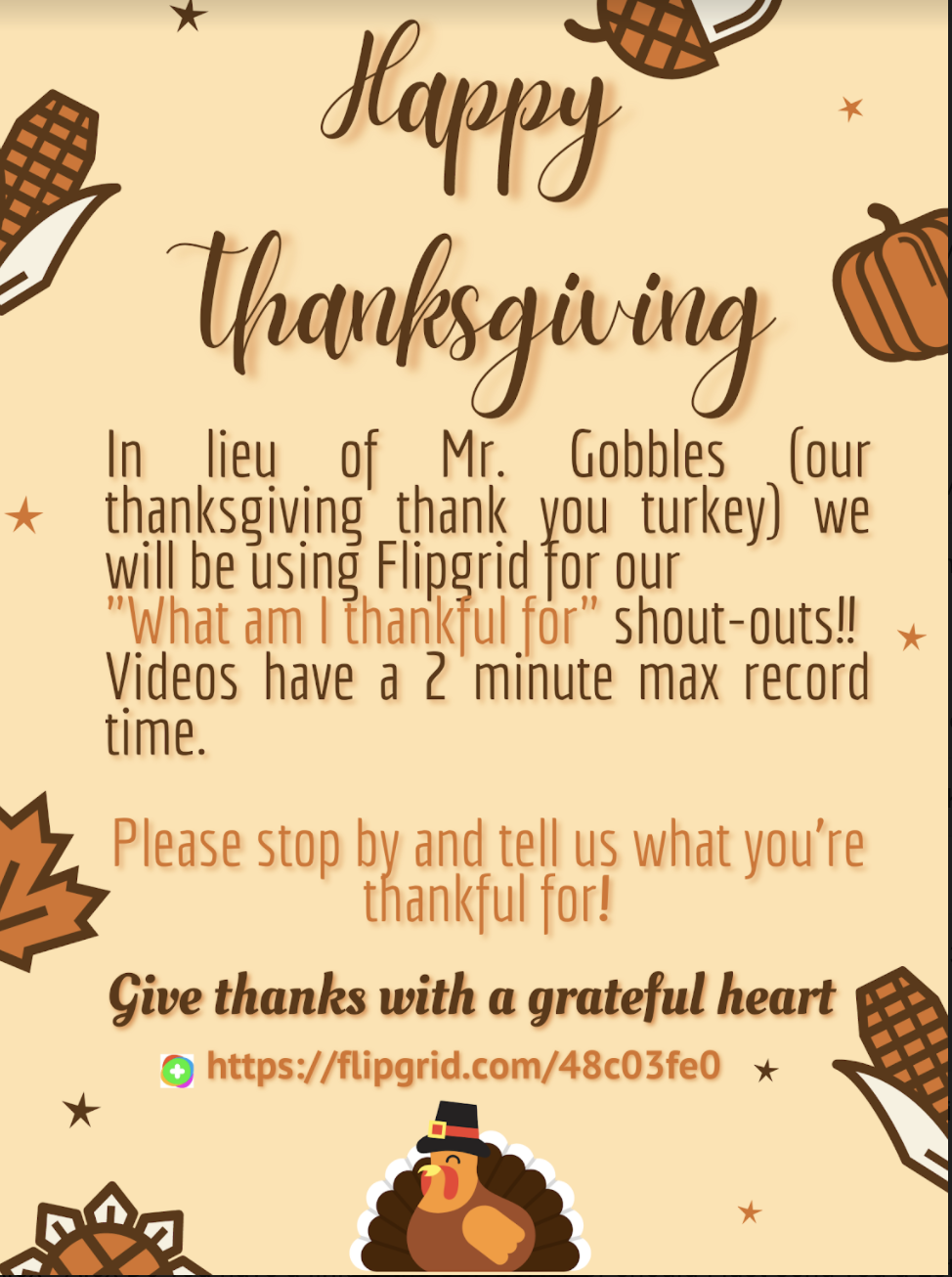 Tell us what you are Thankful for!