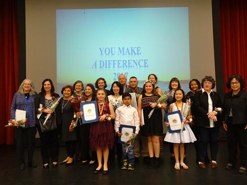 2017 You Make A Difference Award recipients