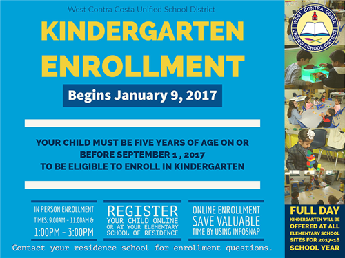 kinder enrollment 2017-2018
