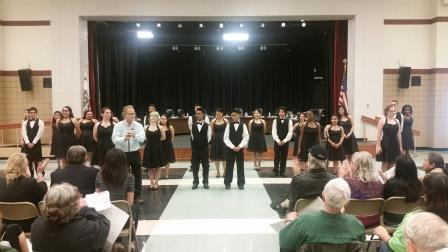 PVHS show choir performs at the Dec. 9 meeting of the Board of Education.
