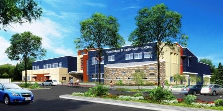 Architect's rendering of the new Coronado Elementary School.
