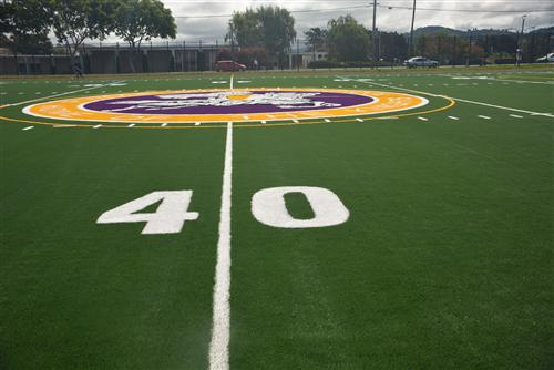 the new logo at midfield