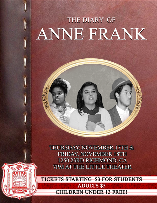 Come see The Diary of Anne Frank this week in the Little Theater!